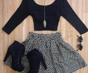 black, girls, and outfit image