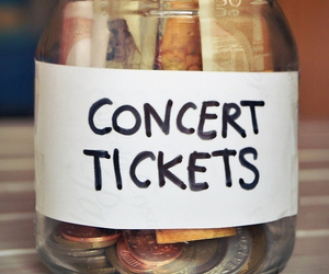 concert, money, and ticket image