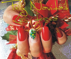 christmas, nails, and navidad image
