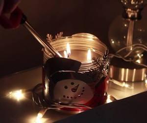 christmas, light, and snowman image