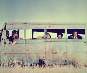 70's, bus, and hippies image