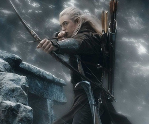 Legolas, the hobbit, and lord of the rings image