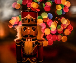 christmas, lights, and nutcracker image