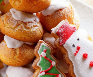 biscuits, christmas, and snowman image