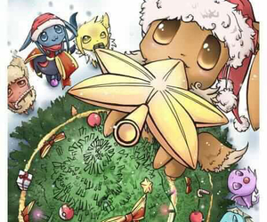 christmas, pokemon, and eevee image
