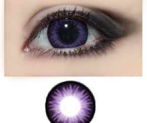 contacts, eyes, and purple image