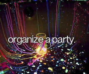 organize, party, and bucketlist image