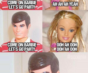 barbie, funny, and ken image