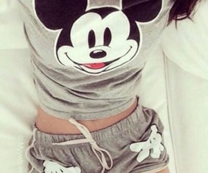 mickey mouse, grey, and mickey image
