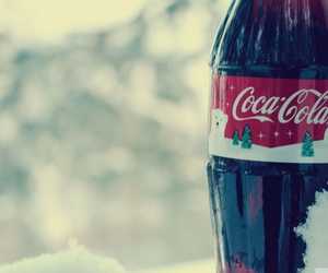 bottle, christmas, and coca cola image