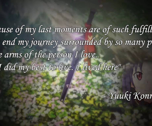 quotes, yuuki, and sword art online image