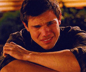 Taylor Lautner, crying, and twilight image