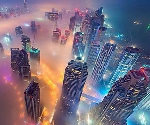 city, light, and Dubai image