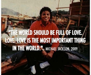 michael jackson, love, and quote image