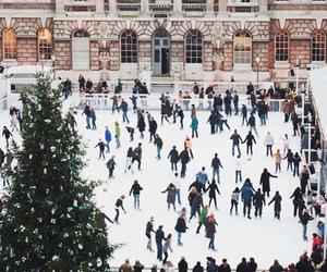 christmas, skate, and fir image