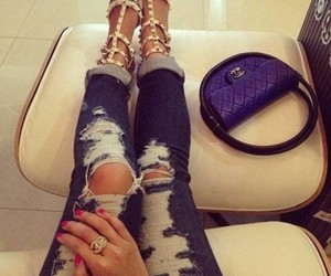 fashion, jeans, and chanel image