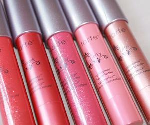 makeup, pink, and lipgloss image