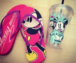 mickey, pink, and cute image