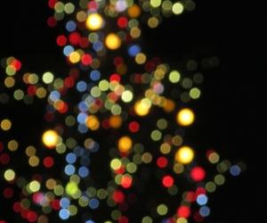 christmas tree, colorful, and glamorous image