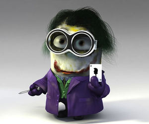 joker, horreur, and minion image