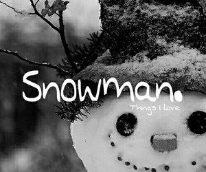 snowman, december, and snow image