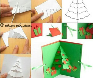 diy, christmas, and card image