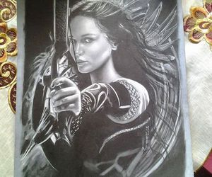 art, hunger games, and girl on fire image