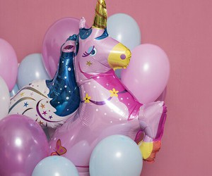 unicorn, balloons, and party image