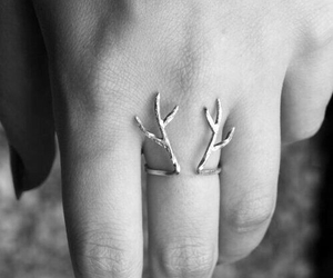 blackandwhite, ring, and cute image