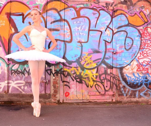 ballerina, ballet, and colourful image