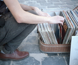vinyl, records, and photography image