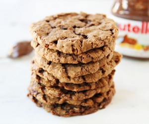 chocolate, cookie, and nutella image