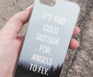 angels, cold, and fly image