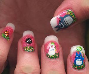 nails, totoro, and cute image
