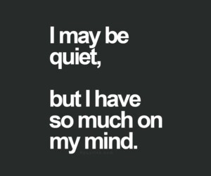 quiet, mind, and quotes image
