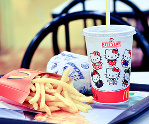 hello kitty, food, and McDonalds image