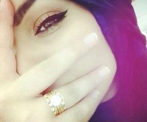 eyes, hijab, and ring image