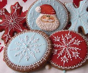cake, Cookies, and snowflake image