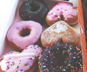 d, donuts, and dunkin donuts image