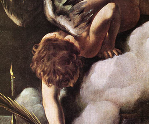 art, caravaggio, and angel image