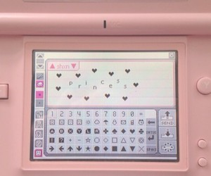 ds, pink, and pictochat image