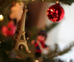 christmas, paris, and eiffel tower image
