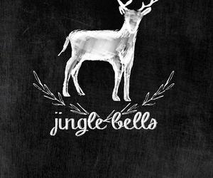 art, xmas, and deer image