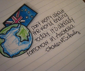 world, australia, and quote image