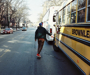 photography, boy, and bus image