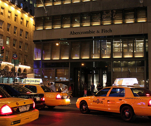 taxi, abercrombie & fitch, and city image