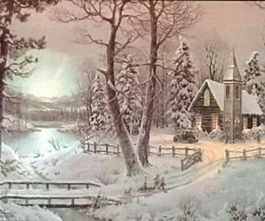cards, vintage, and christmas image