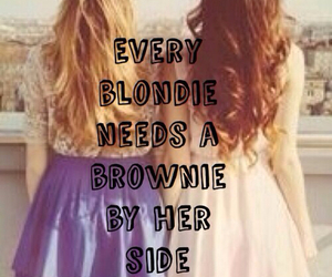 blond, bestfriends, and brownie image