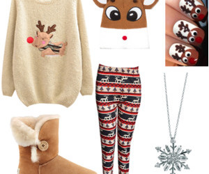clothes, fashion, and christmas outfits image