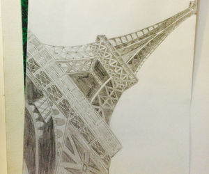 architecture, drawing, and eiffel tower image
